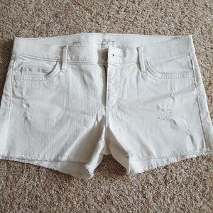 White LOFT 4 Inch Shorts